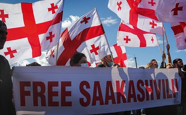 თბილისში ნაციონალური მოძრაობის აქცია