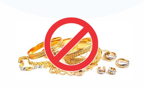 მებაჟე ოფიცრებმა დიდი ოდენობით არადეკლარირებული ოქროს ნაკეთობების ქვეყანაში შემოტანის ფაქტები აღკვეთეს