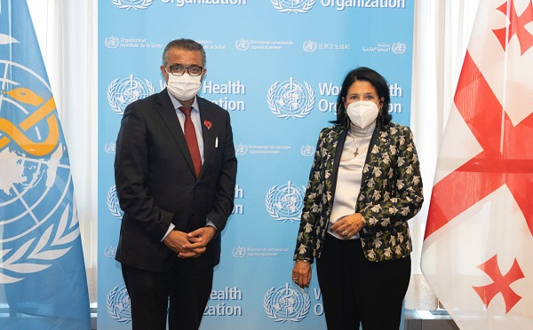 პრეზიდენტი ჟენევაში ჯანმრთელობის მსოფლიო ორგანიზაციის გენერალურ დირექტორს შეხვდა