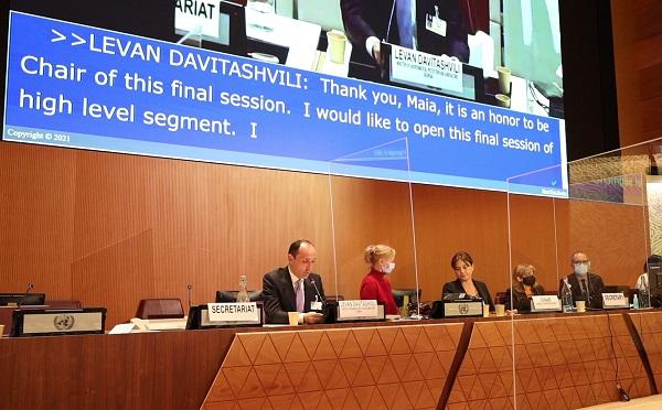 ლევან დავითაშვილი ჟენევაში UNECE-ის ორჰუსის კონვენციის მხარეთა შეხვედრის მაღალი დონის სეგმენტის სესიას თავმჯდომარეობდა