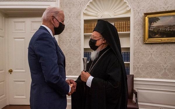 მსოფლიო პატრიარქი აშშ-ის პრეზიდენტს შეხვდა